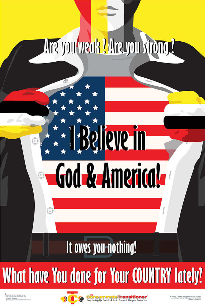 I Believe In God and America Poster